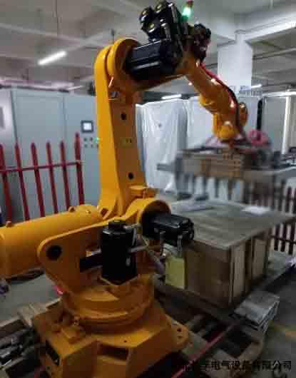 铝钛硼合金锭机器人码垛